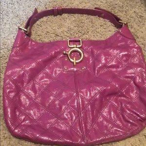 Purple pleather J. Crew purse
